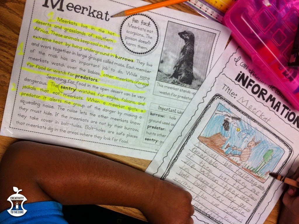 Annotations help develop writing during a close read
