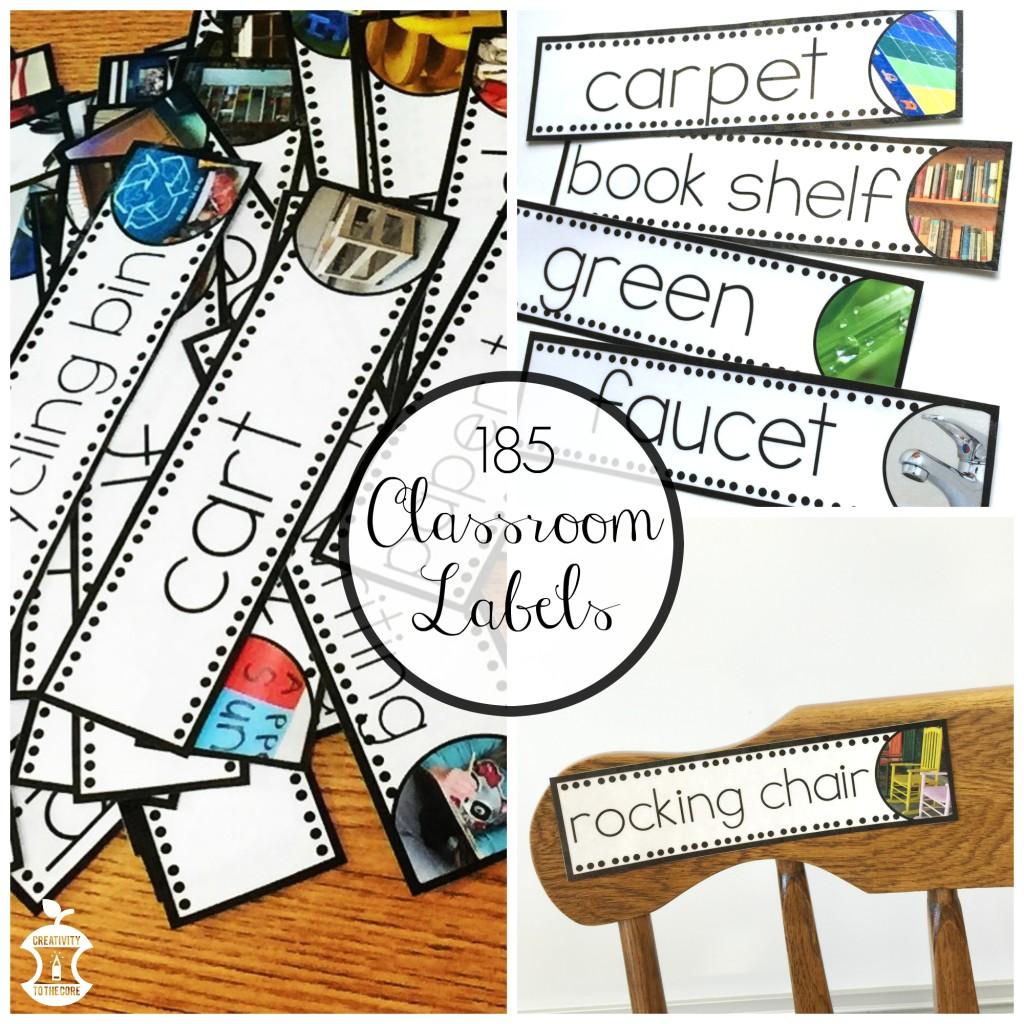 185 Classroom Labels