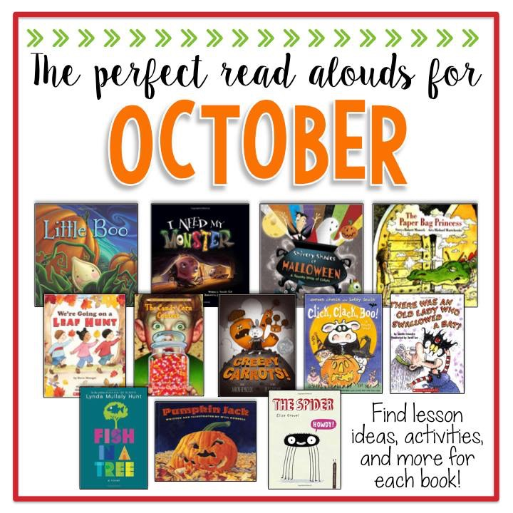October Read Alouds and lesson plan ideas