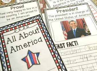 All About America Minibook - Perfect for September 11, Veteran's Day, Memorial Day, & american symbols!