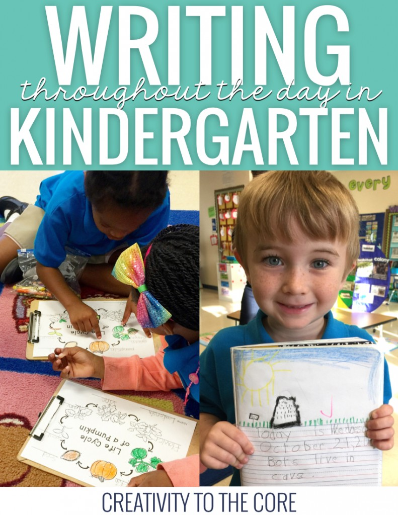 Writing throughout the day in kindergarten