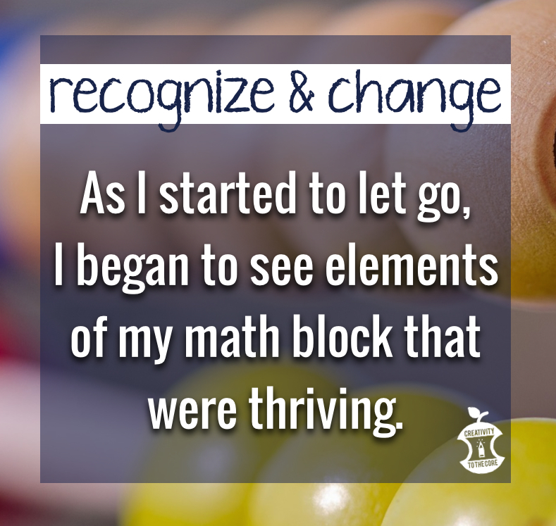 Recognizing a need for change within your kindergarten math block