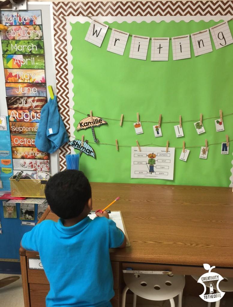 writing center kindergarten