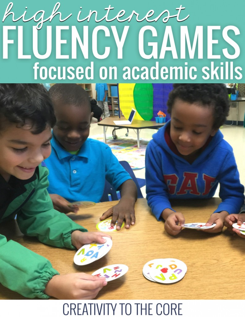 Fun fluency games that are focused on academic skills and increase student engagement. Great for small group warm up in math and reading!