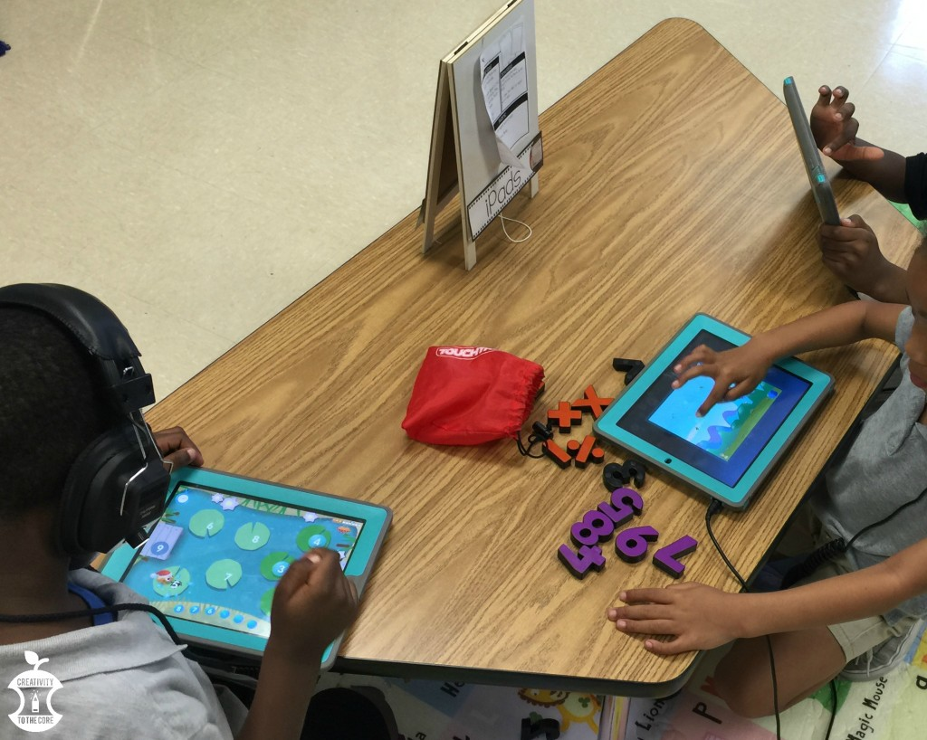 Student technology in math centers