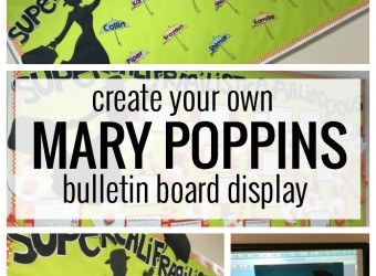 SUPERCALIFRAG..... bulletin board. Perfect for a Mary Poppins themed classroom and versatile for the entire year!